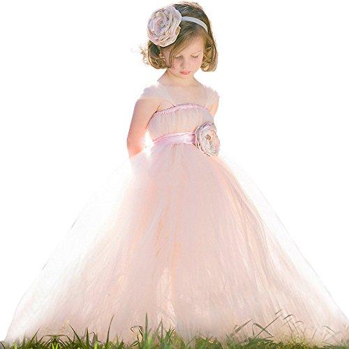 KekeHouseR Flower Girls Dress For Wedding Sash Kid Princess Child Birthday Party Ribbon Straps Tutu Ball Gown